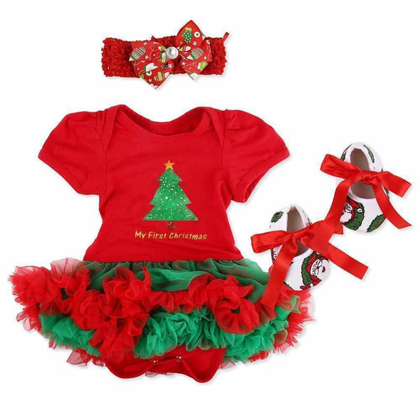 Reborn Baby Doll Clothes Outfit for 20-24 Inch Reborns Newborn Matching Clothing Red Dress Four-Piece Set Kids Toys Gift