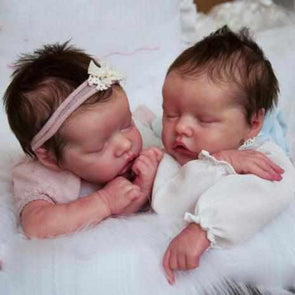 "[Special Discount] 17"" Twins Sister Maren & Monica Reborn Baby Doll"
