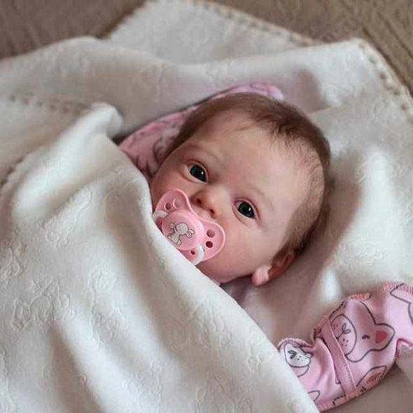 18'' Hedva Realistic Reborn Baby Girl Doll
