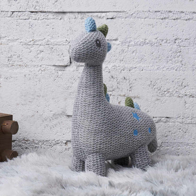 [New] Calming Toy Knitted Doll-Best companionship for Baby- Dinosaur