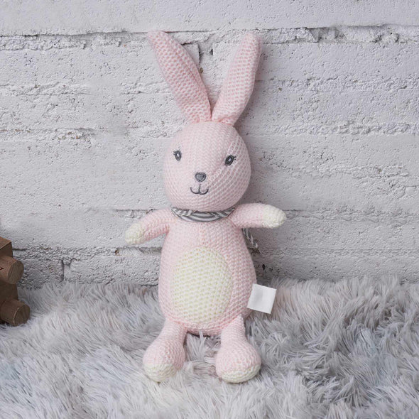 [New] Calming Toy Knitted Doll-Best companionship for Baby-Pink Rabbit