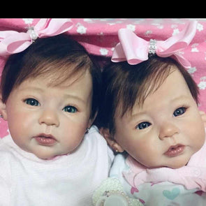 20 '' Real Lifelike Twins Sister Fidelia and Fiona Reborn Baby Doll Girl