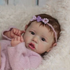 "22"" Real Life Reborn Saskia Baby Toddler Doll Girl Named Spring, Realistic Gift Toy"