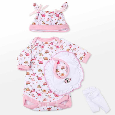 "Reborn Dolls Baby Clothes Pink Outfit for 20""- 22"" Reborn Doll Girl Baby Clothing sets"