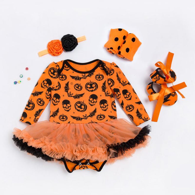 4 Pcs Long Sleeve Halloween Dress Suit for 20