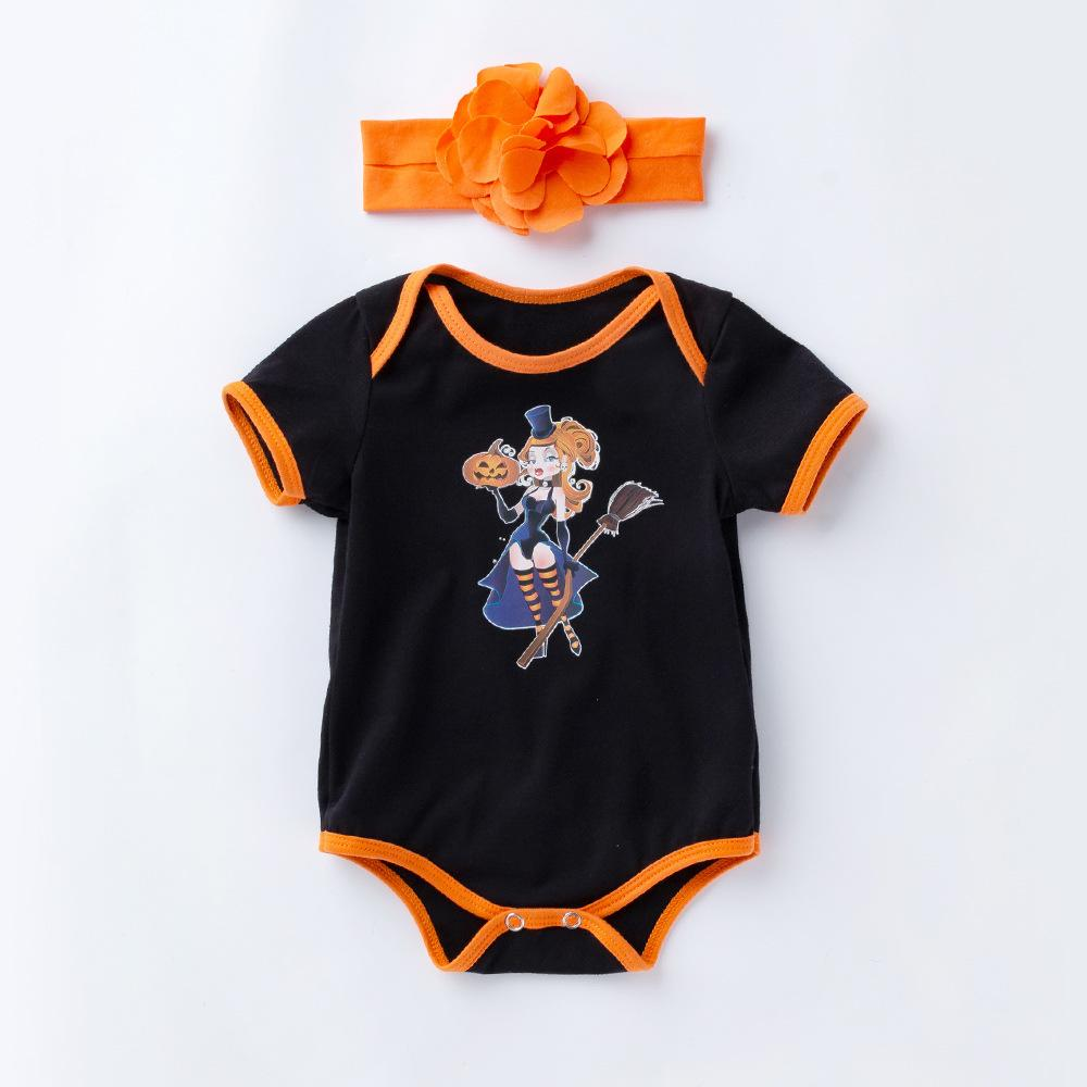 2 Pcs Witch Romper Set for 20