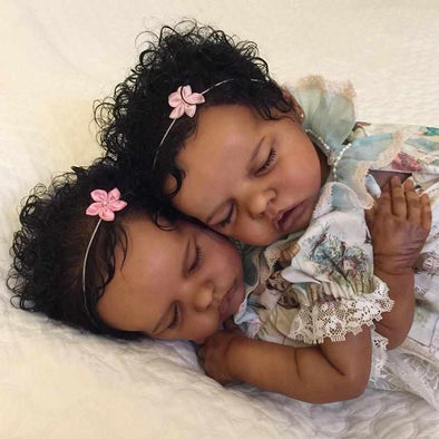 [NEW]17 '' Real Lifelike Twins Sister Atalanta and Celeste Reborn Baby Doll Girl