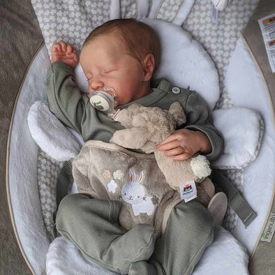"[Heartbeat & Sound] 20 '' Real Lifelike Nateka Reborn Baby Doll with Coos and ""Heartbeat"""