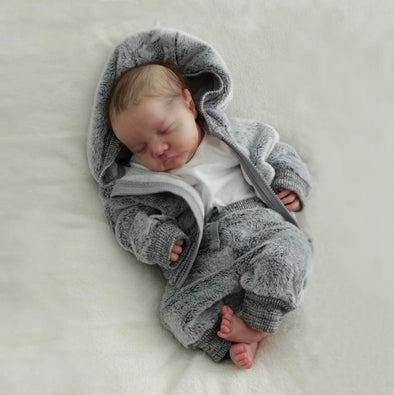 [MID-YEAR OFFER] 17'' Little Sike Reborn Baby Doll Girl, Lifelike Vinyl