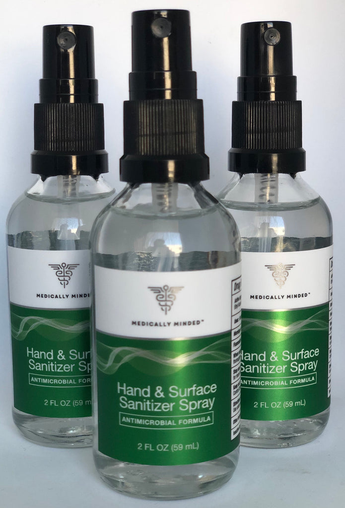 Hand and Surface Sanitizer Spray - Antimicrobial Formula (2 FL 59ml)