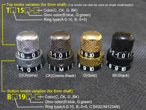 Luminlay knobs BB series/-5+5/for 8 shaft/only bottom knob