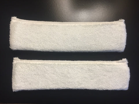 High-Absorbent Bamboo Sweatbands WHITE (Two Pack)