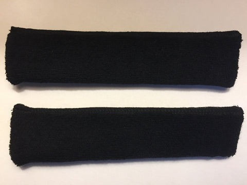 High-Absorbent Bamboo Sweatbands BLACK (Two Pack)