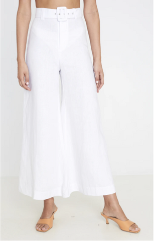 Faithful The Brand - Rose Wide Leg Pant - Plain White