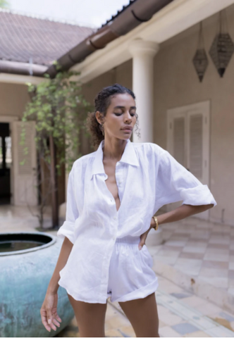 ÉSS THE LABEL - Paloma Collared Linen Shirt
