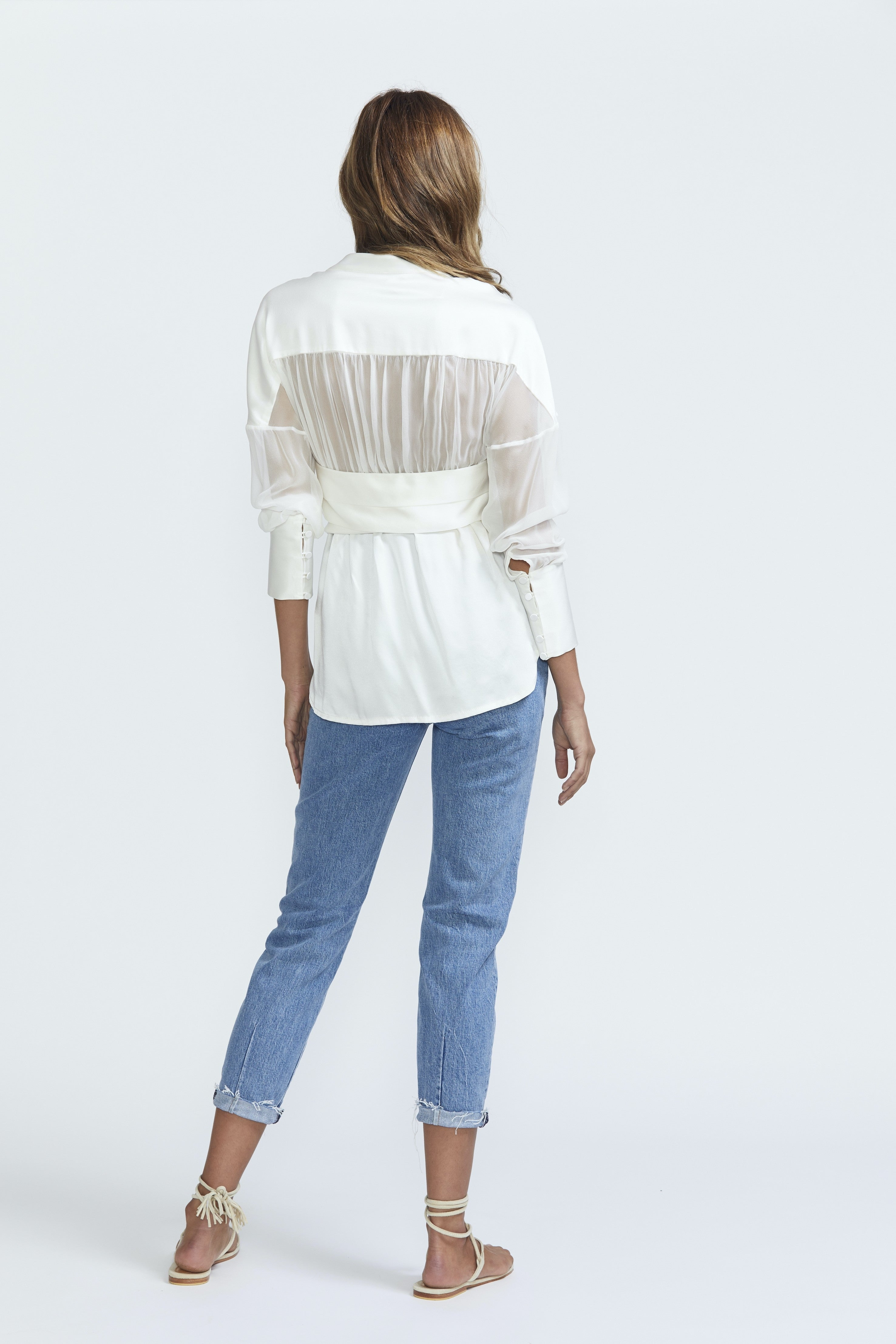 Bec & Bridge Silk Blouse Ivory