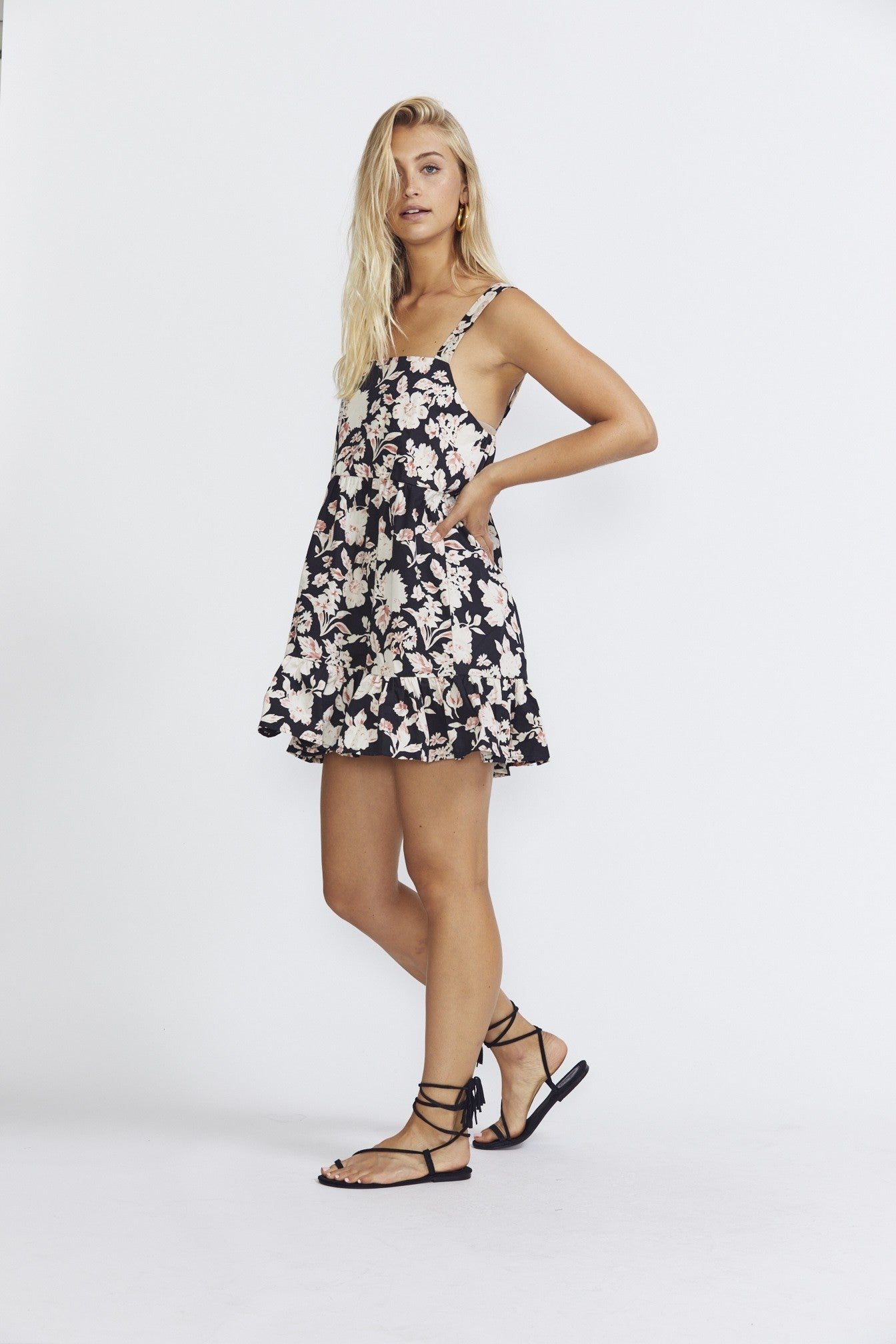 ÉSS THE LABEL Jaia Mini - Red/Cream Floral