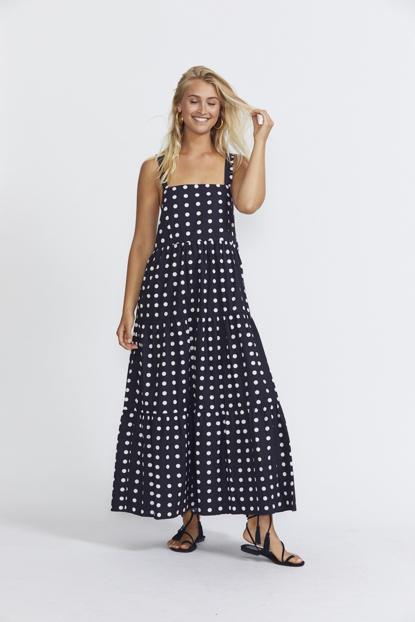 ÉSS THE LABEL Marika Maxi - Polka Dot