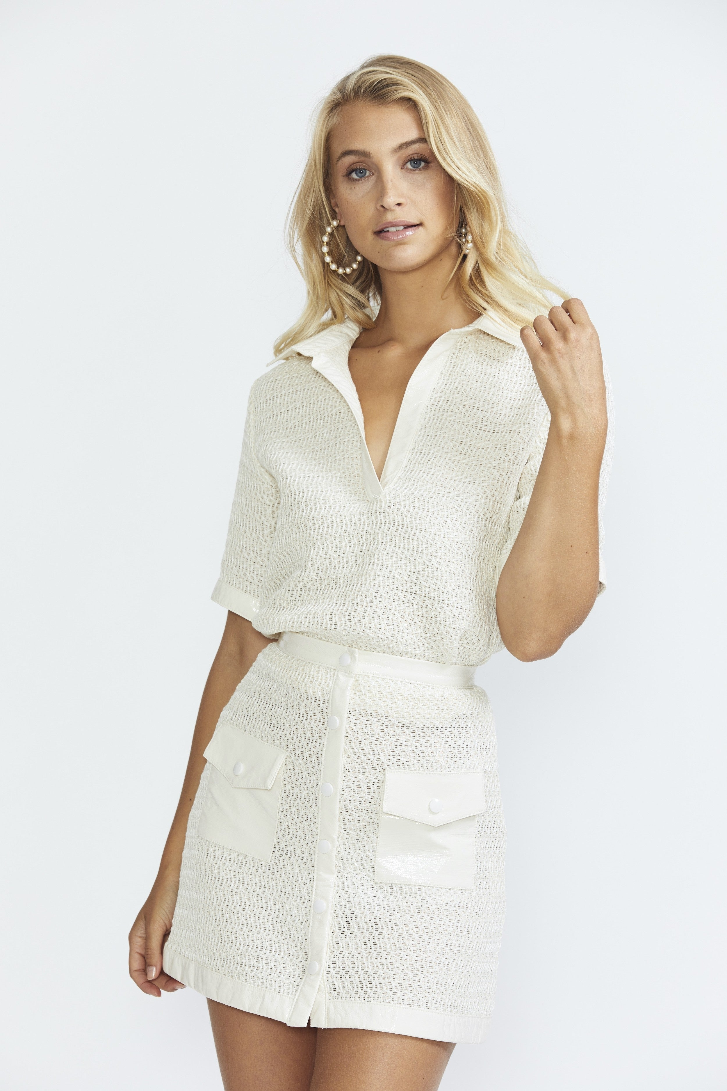 Bec &  Bridge Coconut Mini Skirt - Ivory