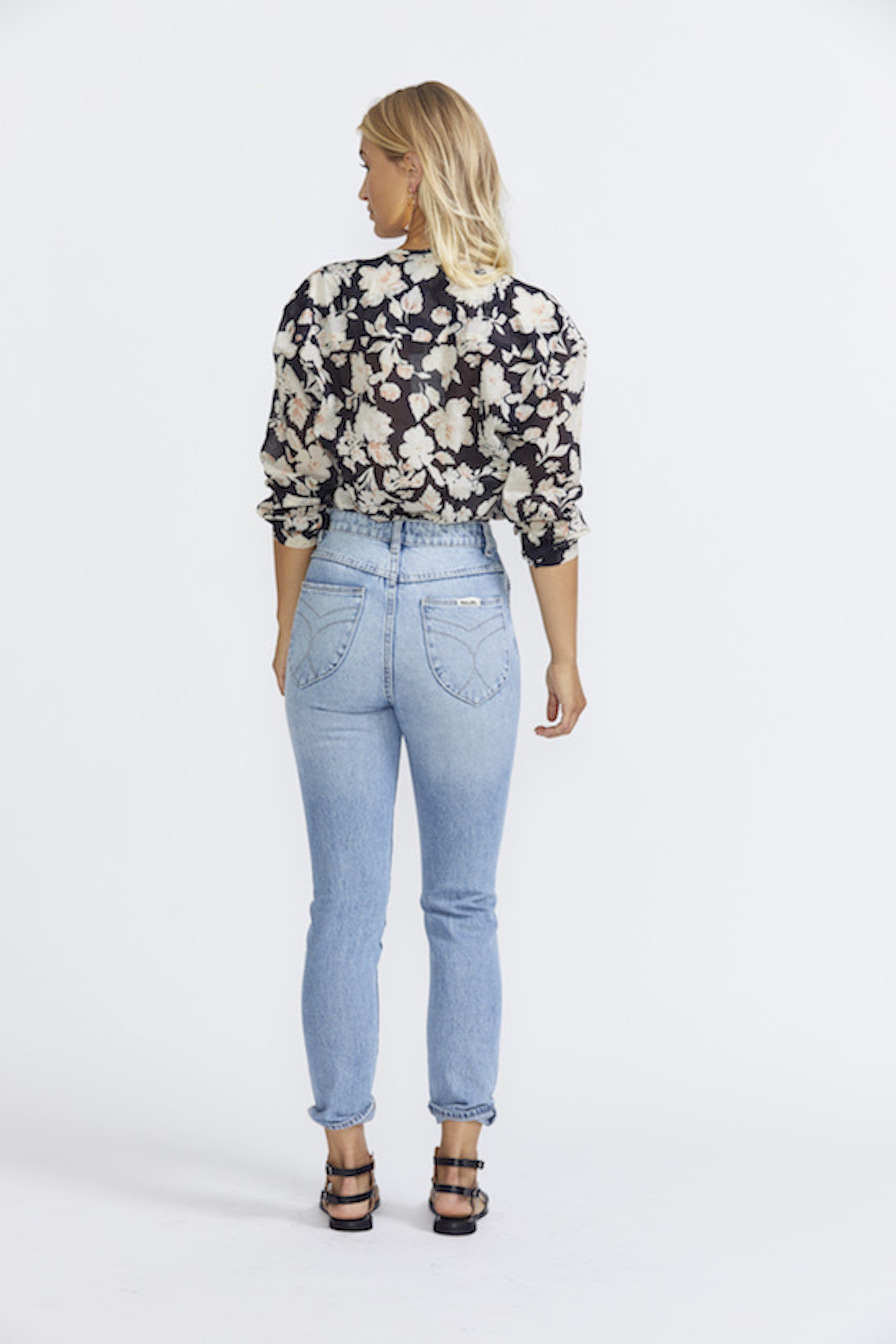 ÉSS THE LABEL Paloma Shirt - Black Floral