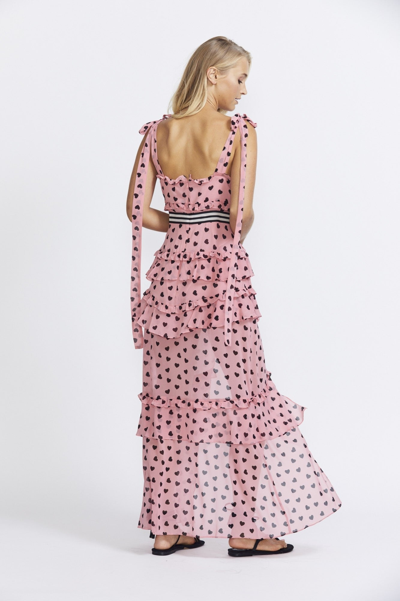 For Love & Lemons Maison Maxi Dress- Spot
