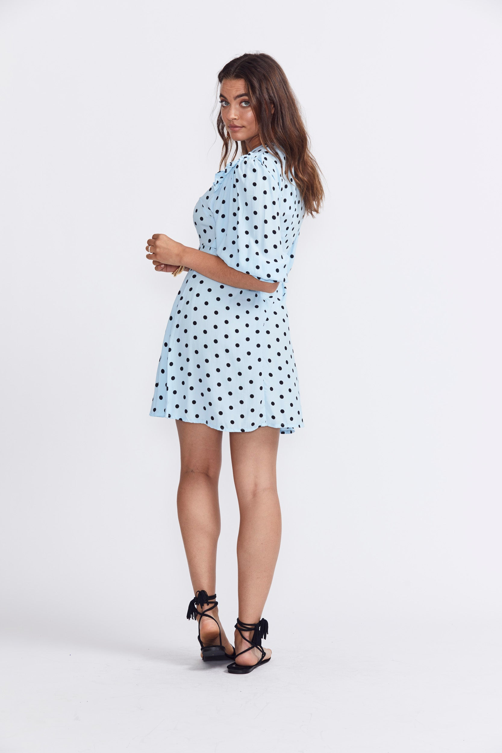 Faithfull The Brand Edwina Mini Dress - Sylvie Dot