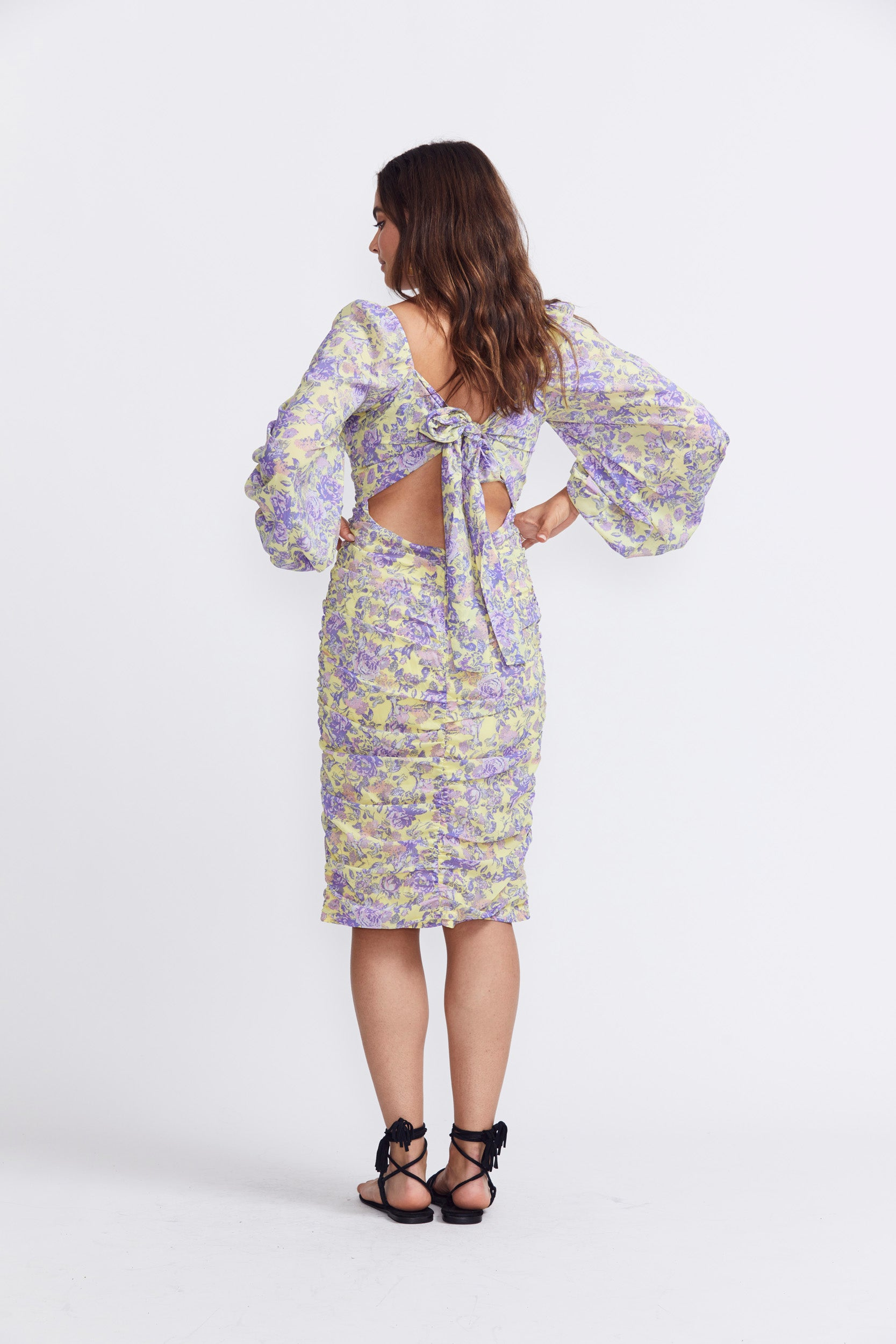 For Love & Lemons Maui Midi Dress - Yellow