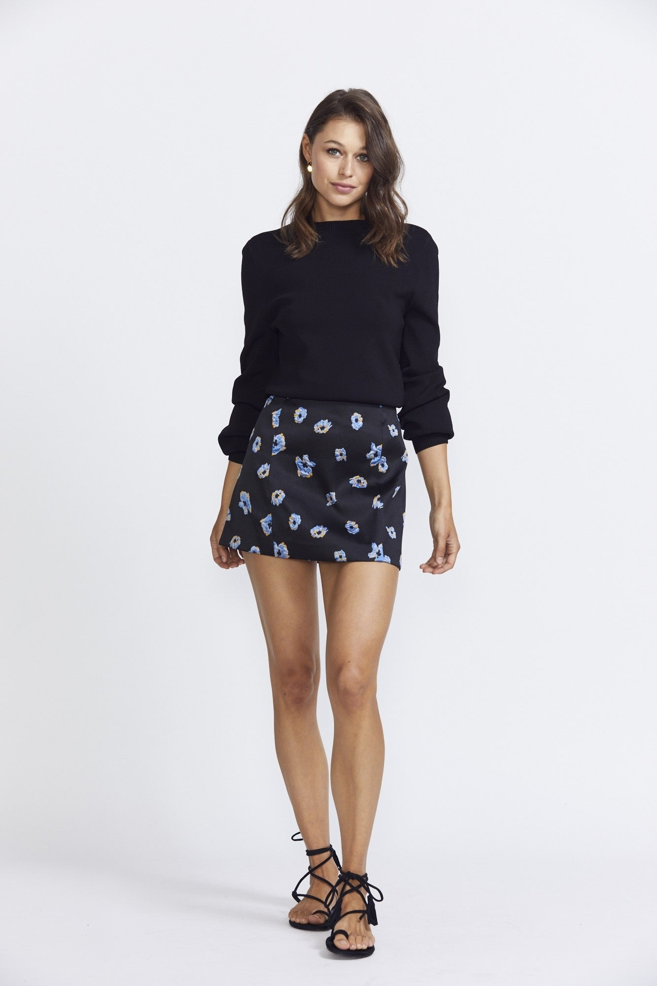 Bec & Bridge Daisy Mini Skirt- Cornflower Poppy