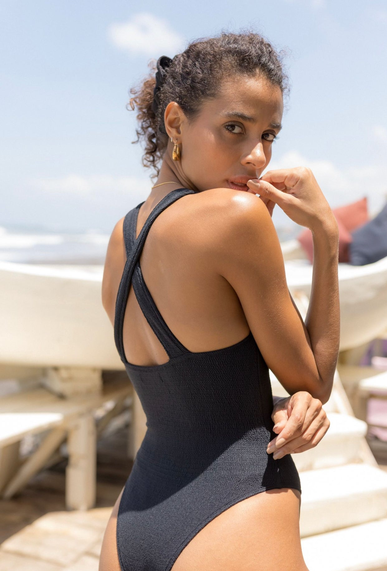 ÉSS THE LABEL Penelope Cross Back Swimsuit - Black