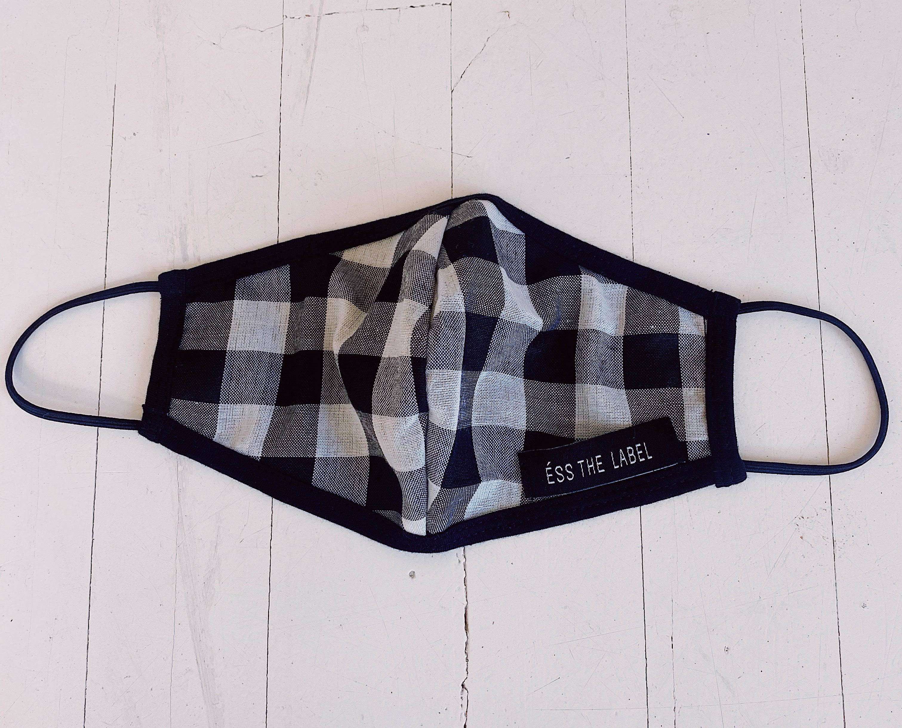 ÉSS THE LABEL Cotton Gingham Face Mask - Gingham