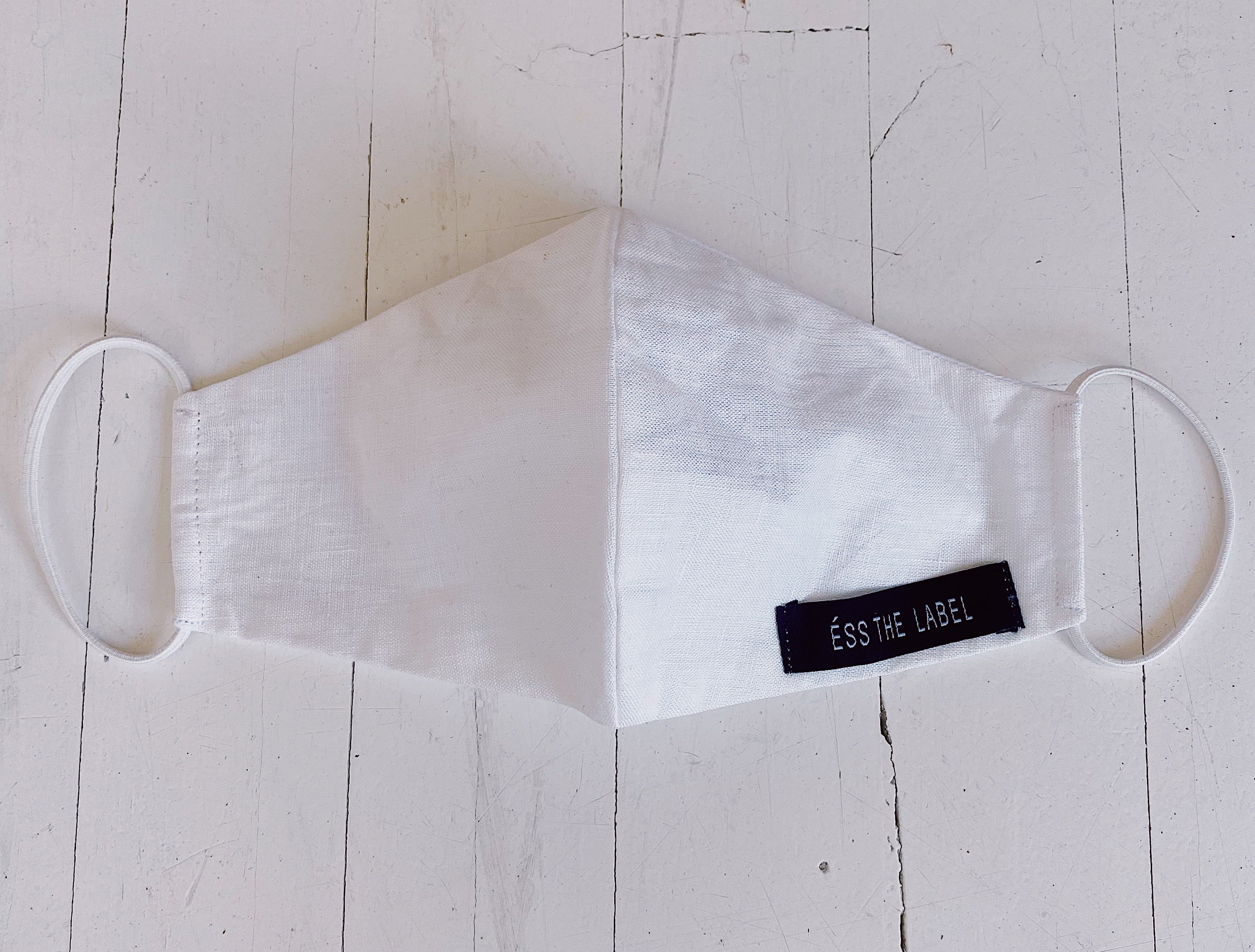 ÉSS THE LABEL Linen Face Mask - White