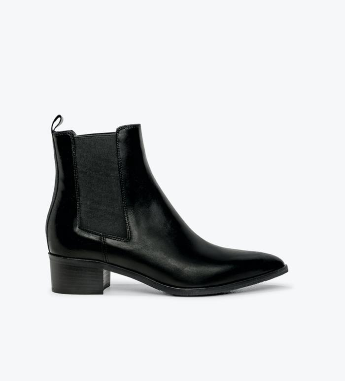 Department Of Finery Carina Leather Boot - Black