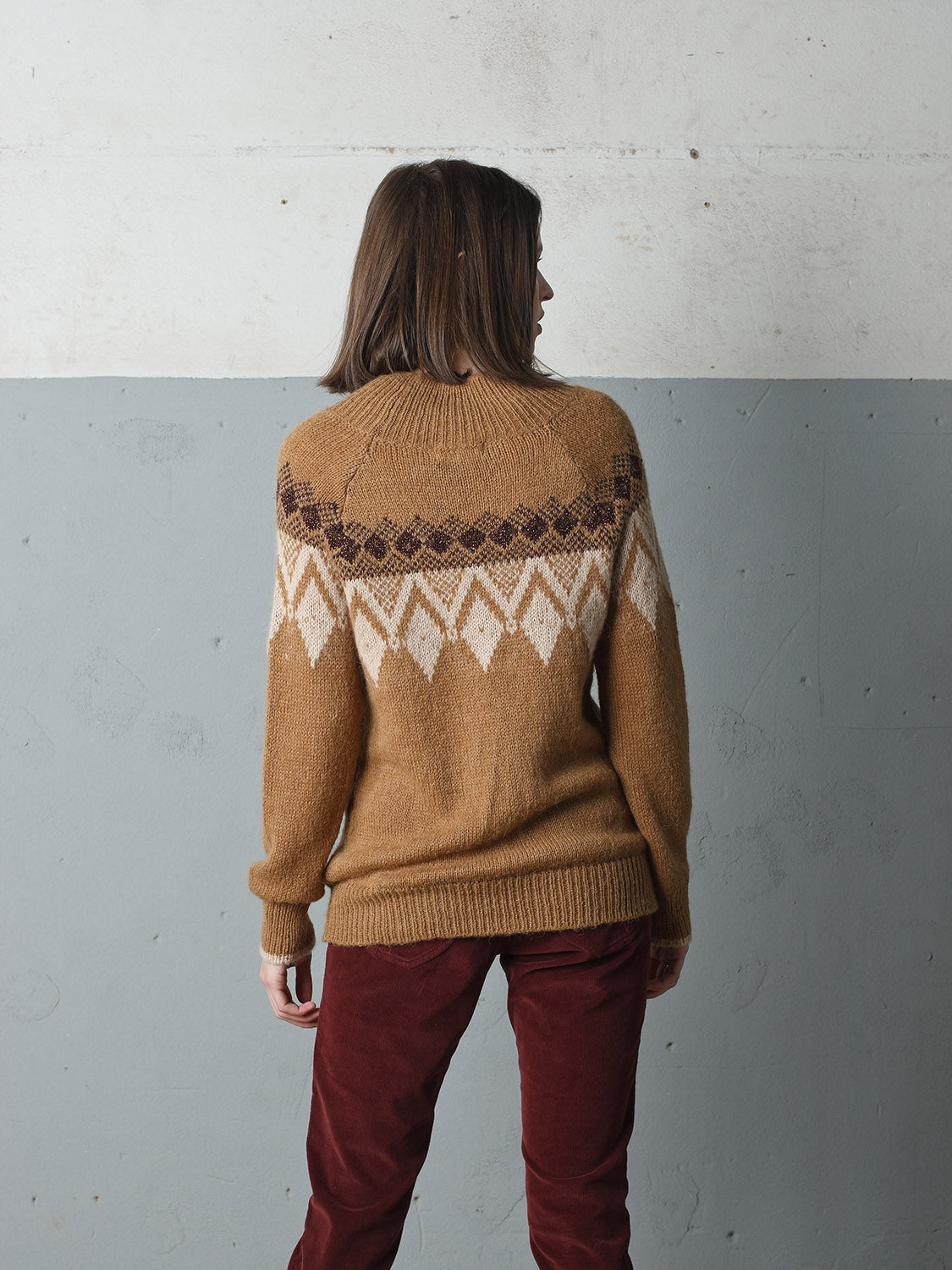 INDI AND COLD JERSEY JUMPER - CAMEL