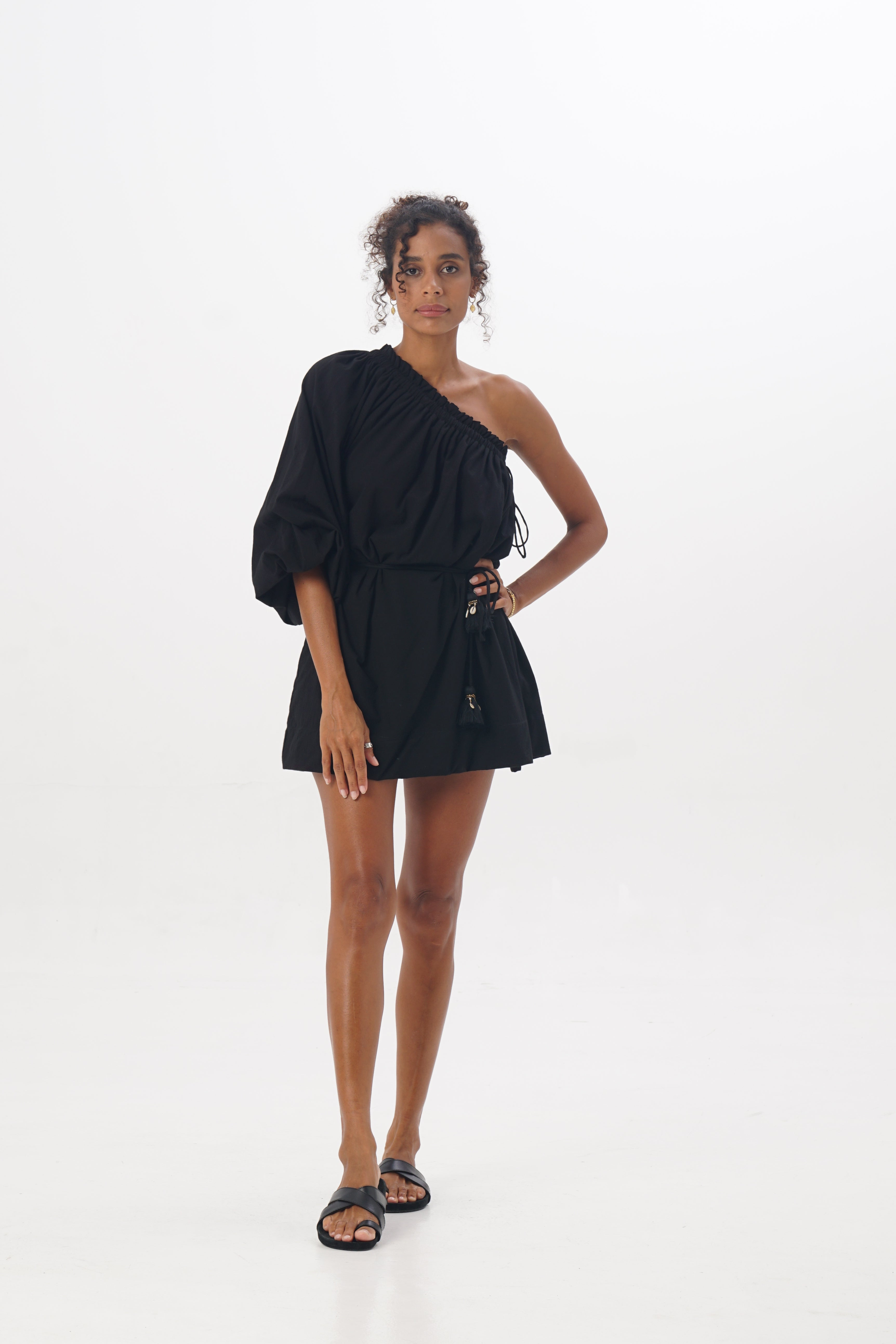 ÉSS THE LABEL Sibella One Shoulder Dress - Black