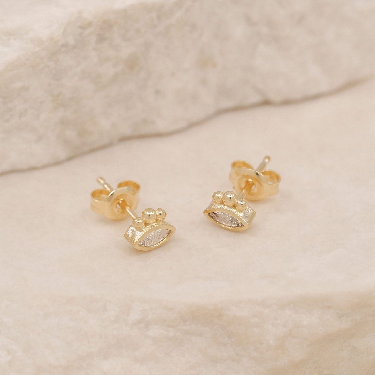 By Charlotte Trust Your Intuition Stud Earrings - Gold