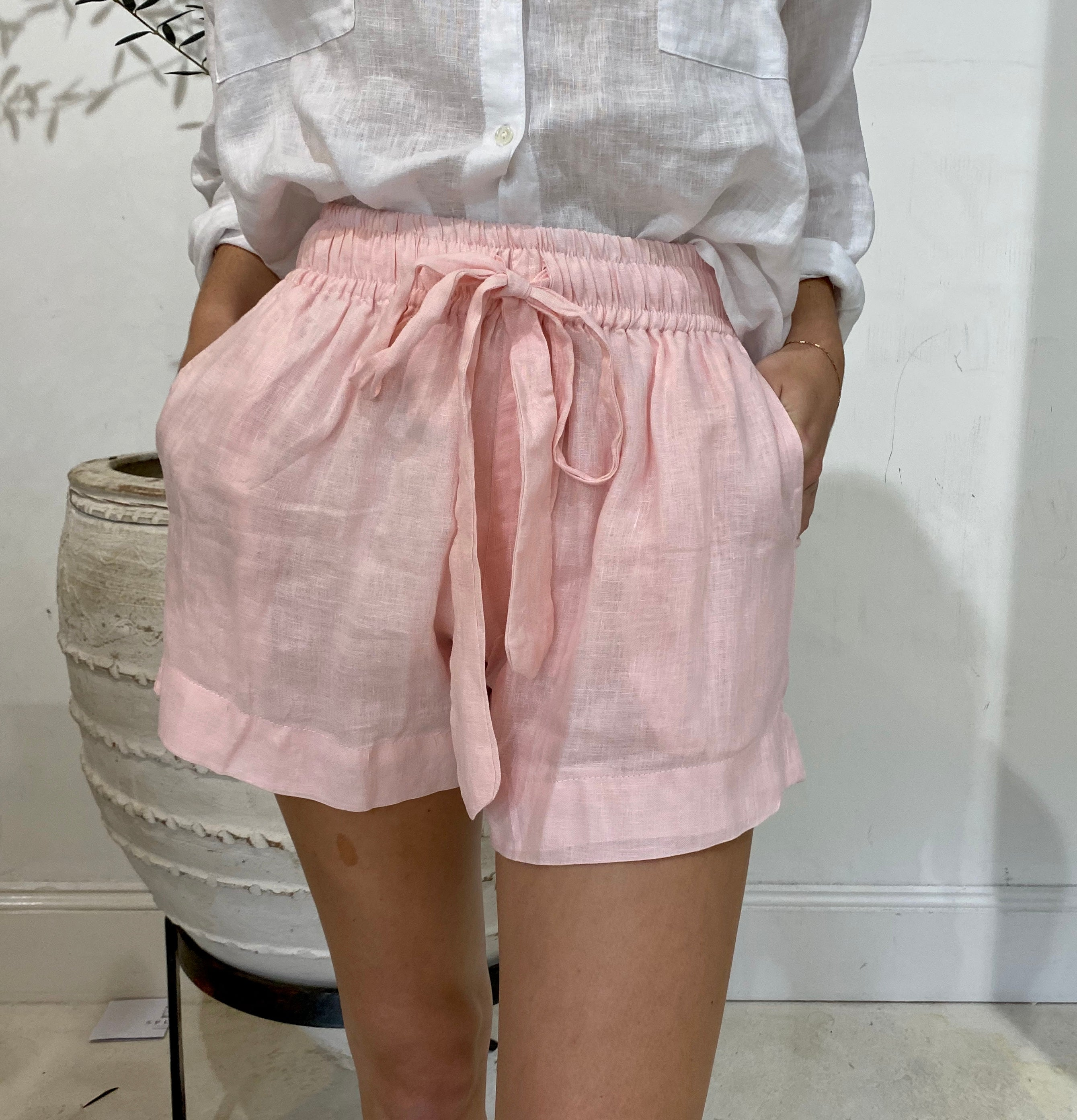 ÉSS THE LABEL Marley Linen Short - Blush