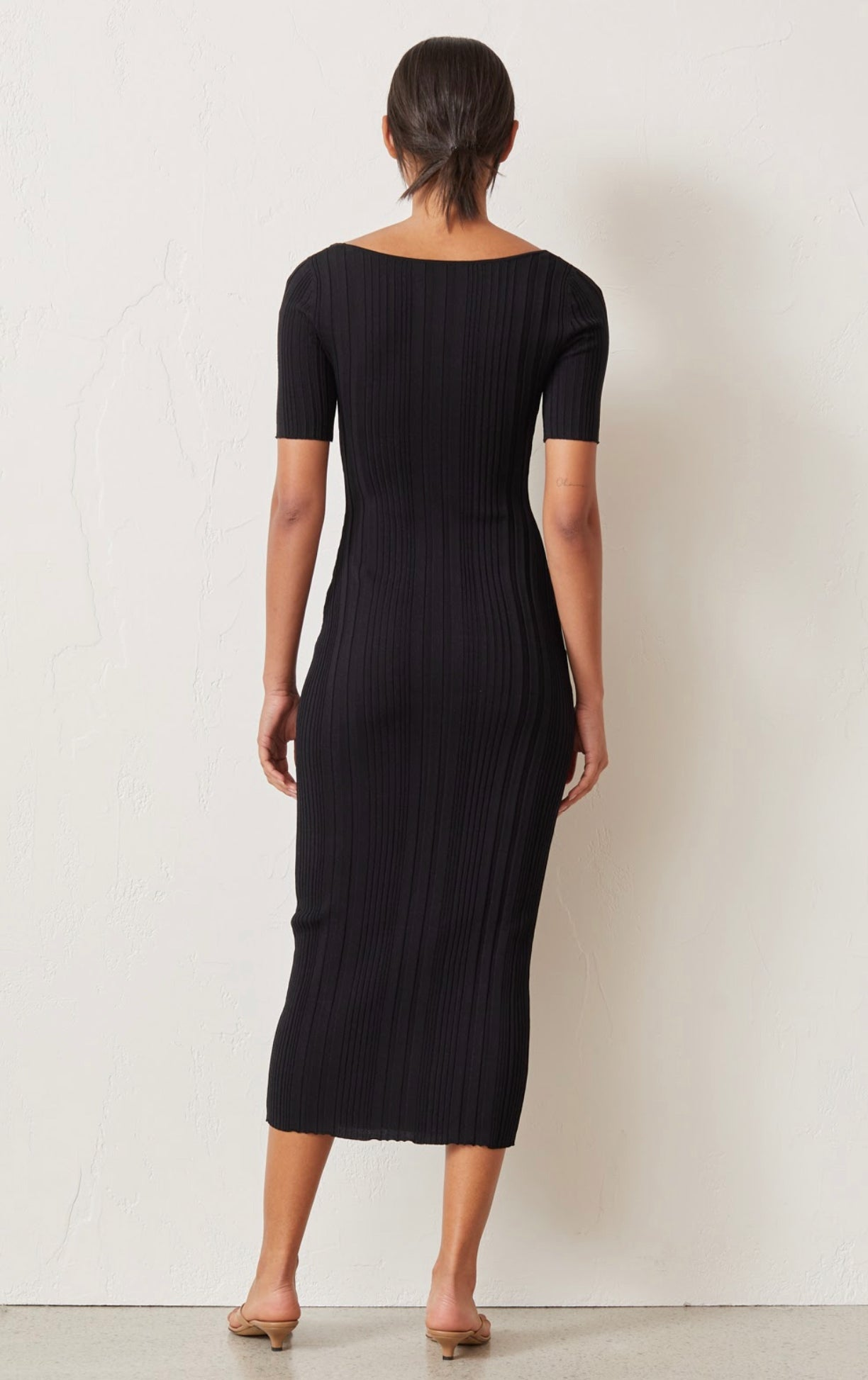 Bec & Bridge Toulouse Knit Midi Dress - Black