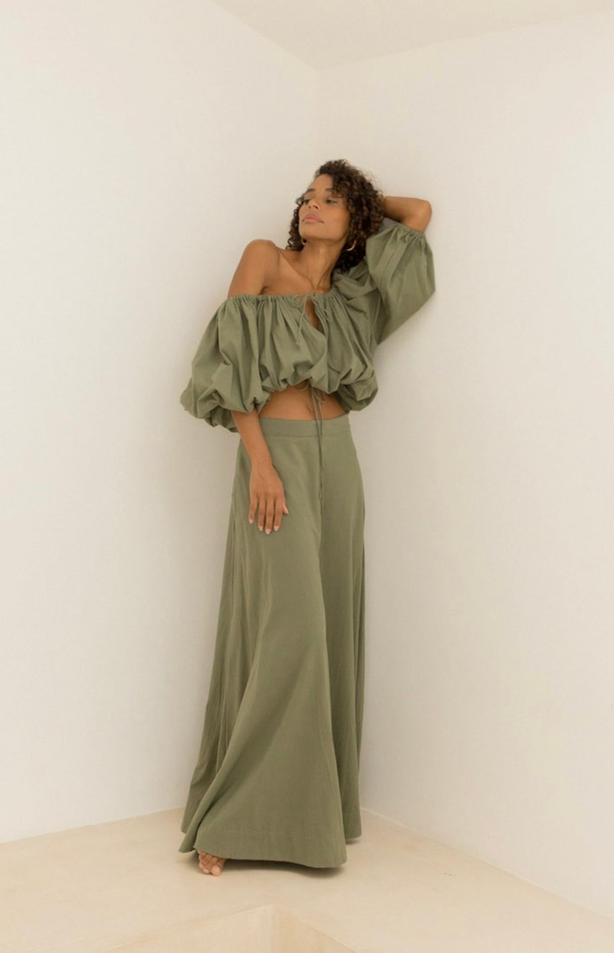 ÉSS THE LABEL Chloe Maxi Skirt - Khaki