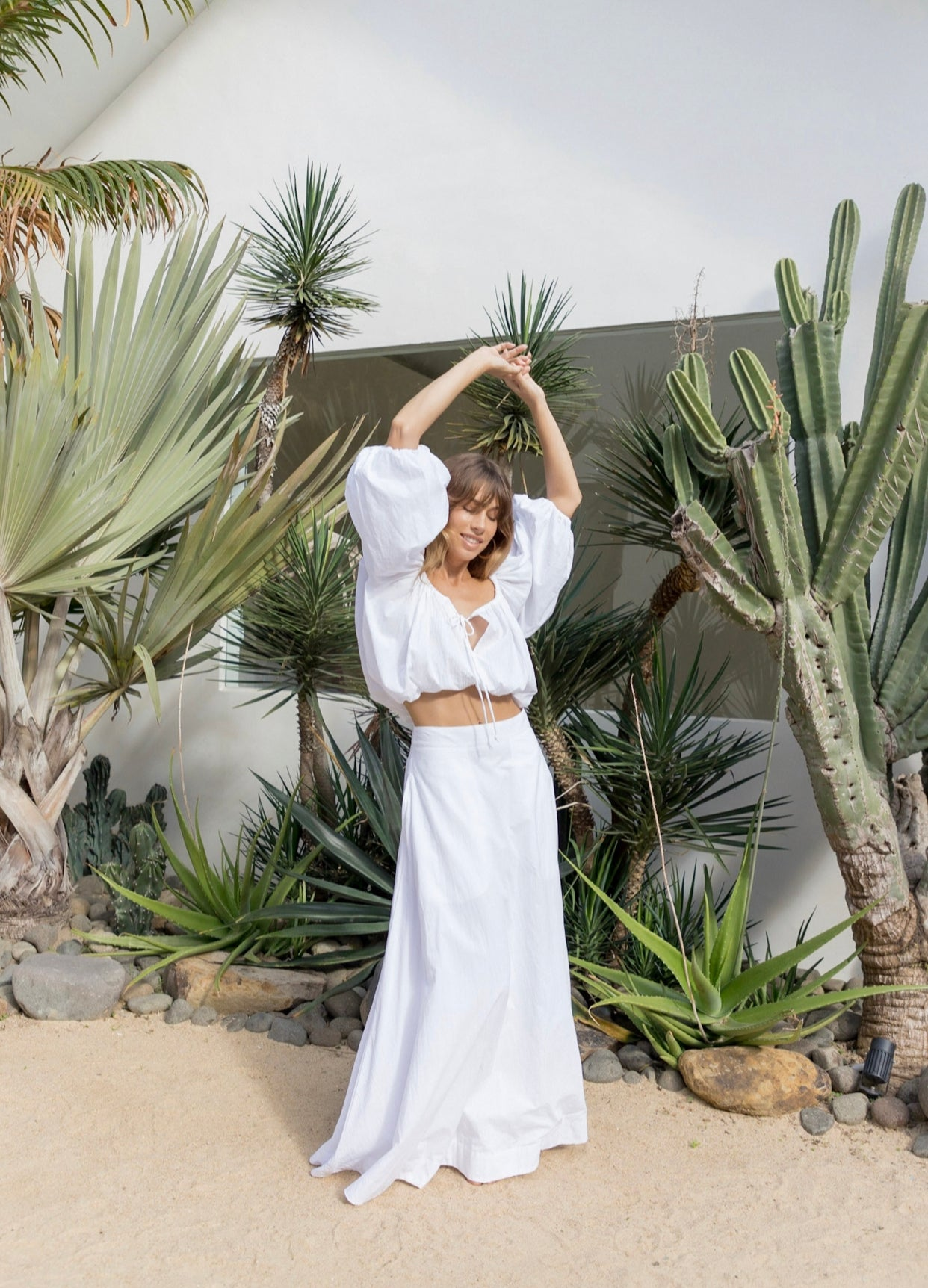 ÉSS THE LABEL Chloe Maxi Skirt - White