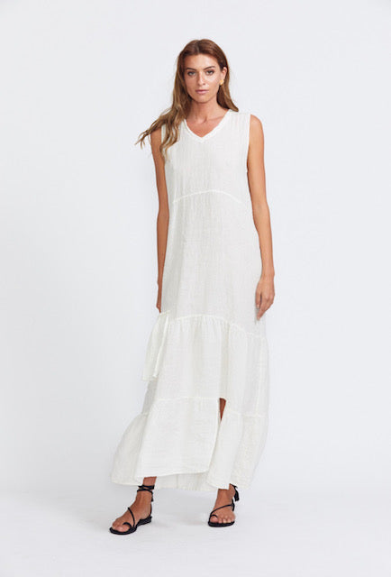 Estilo Emporio Battista Folk Dress - White