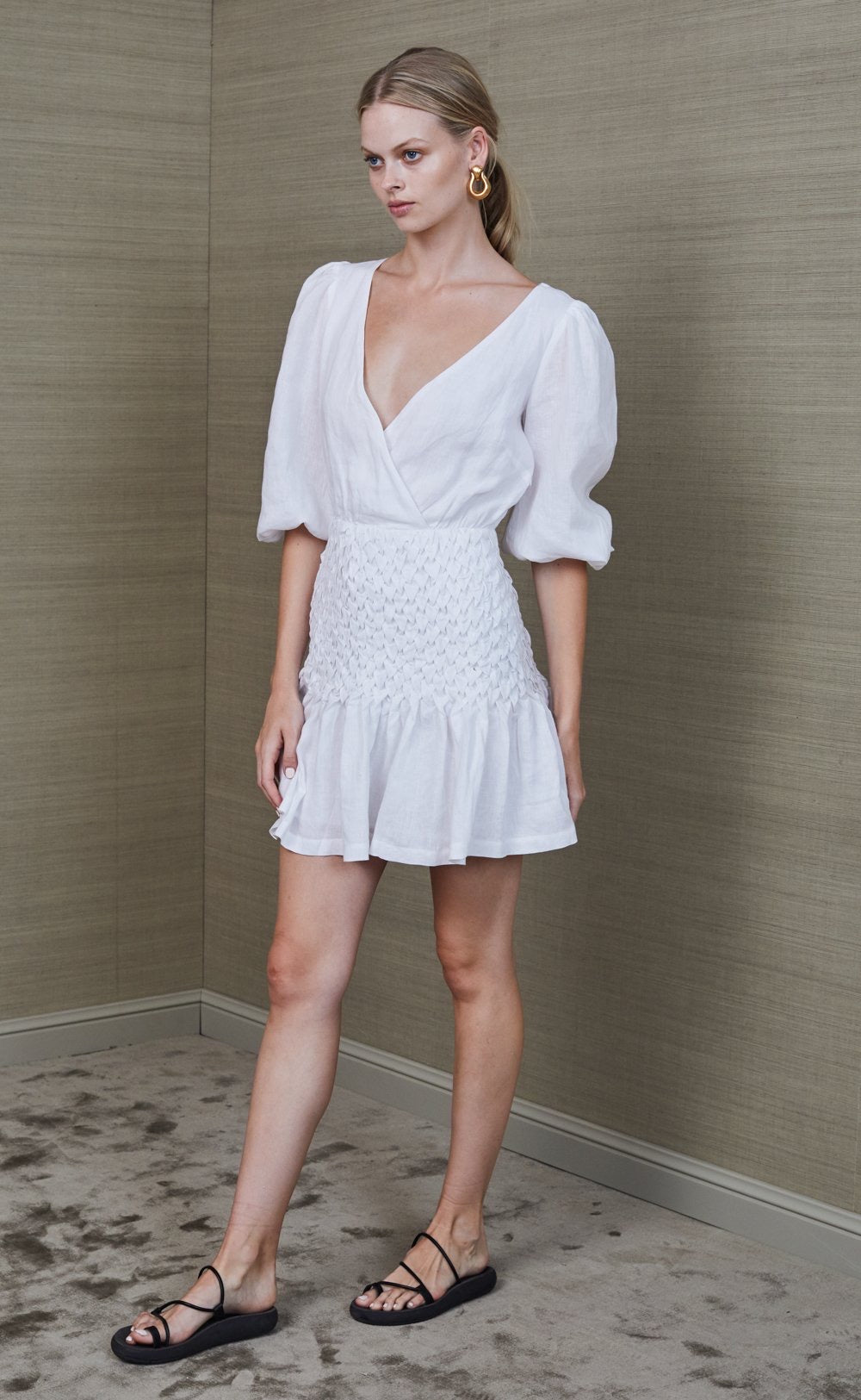 Bec & Bridge Avery Mini Dress - Ivory