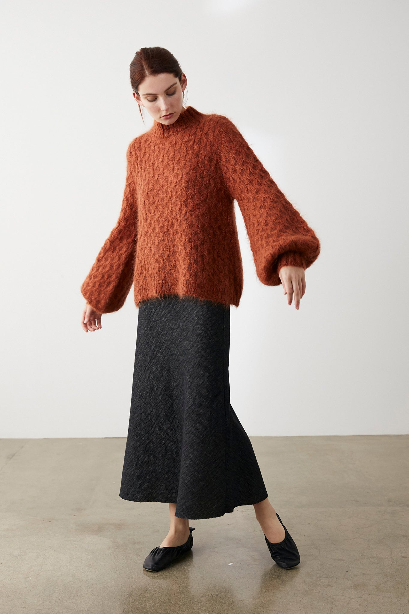 Marle Mimi Jumper - Textured Ginger