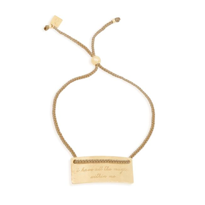 By Charlotte Pisces Cord Bracelet