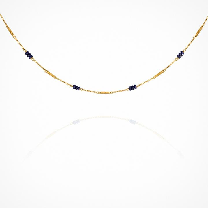 Temple of the Sun Quinn Sapphire Necklace - Gold