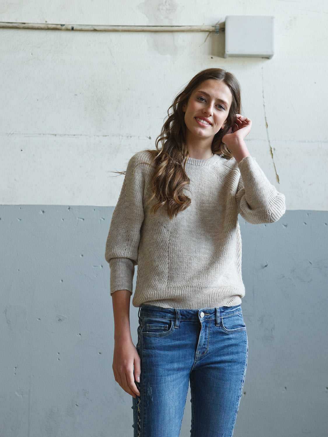 INDI AND COLD JERSEY JUMPER - HIELO TAUPE