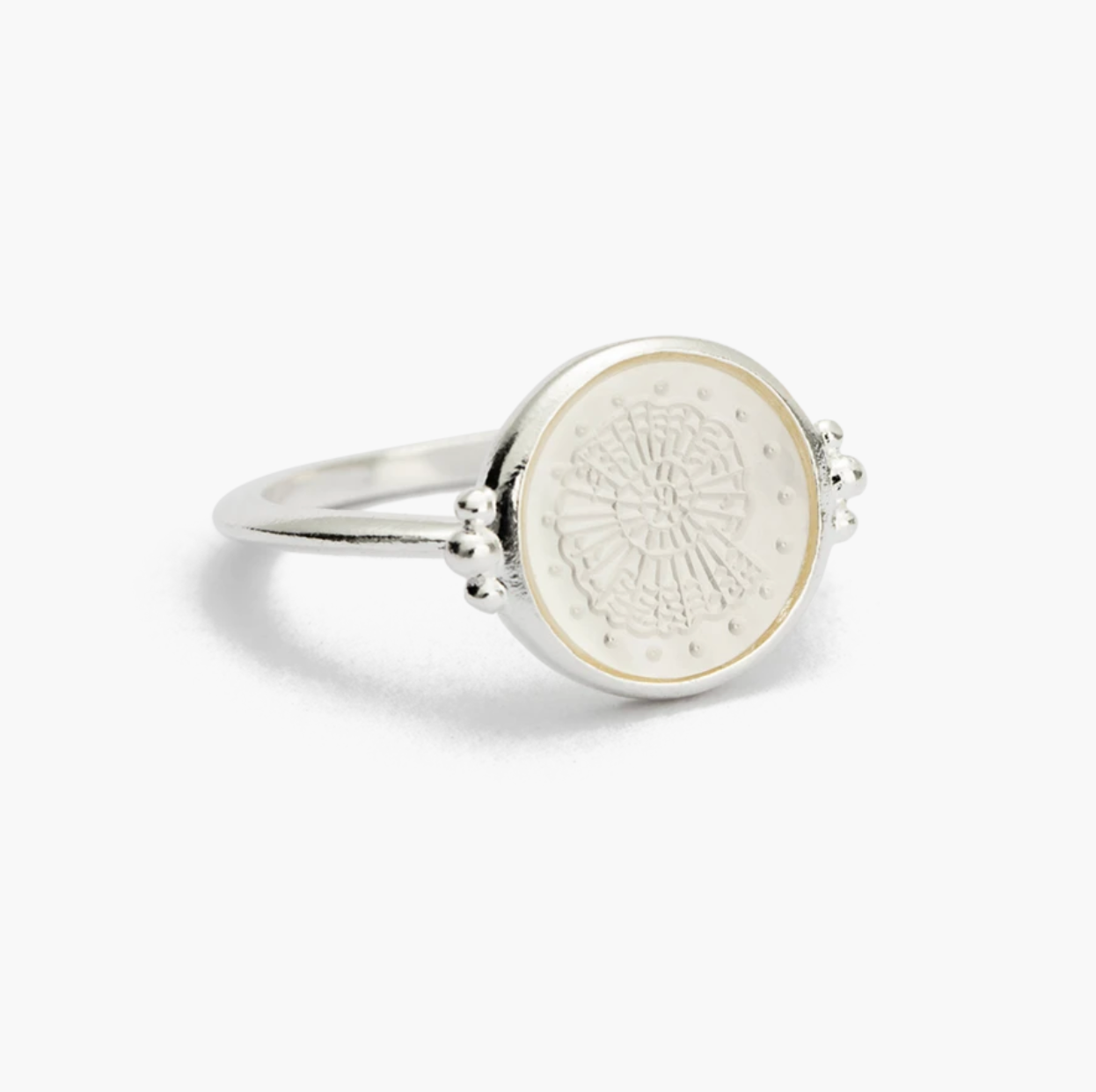 Kirstin Ash Fossil Shell - Silver