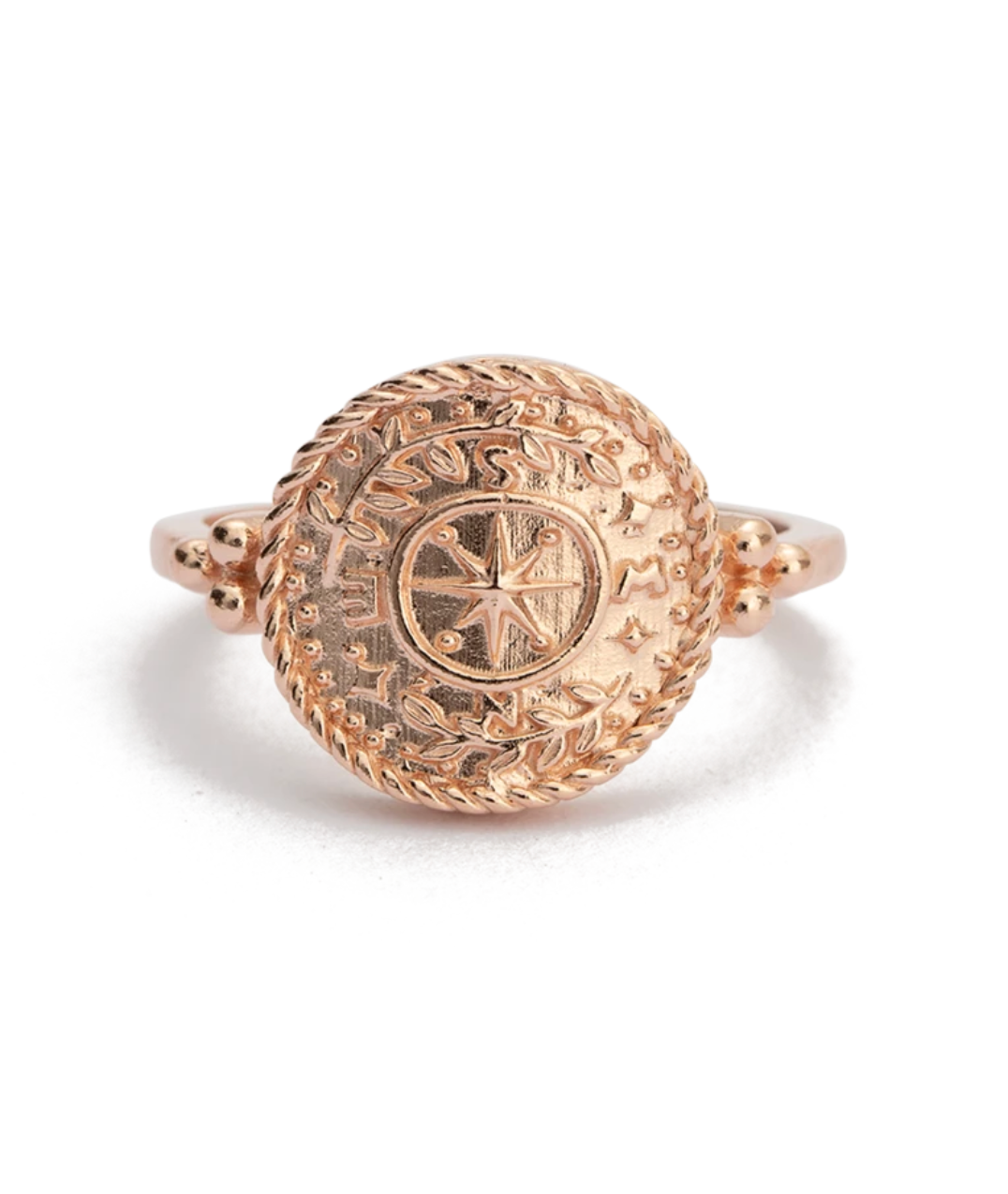 Kirstin Ash Treasure Coin Ring - Rose Gold