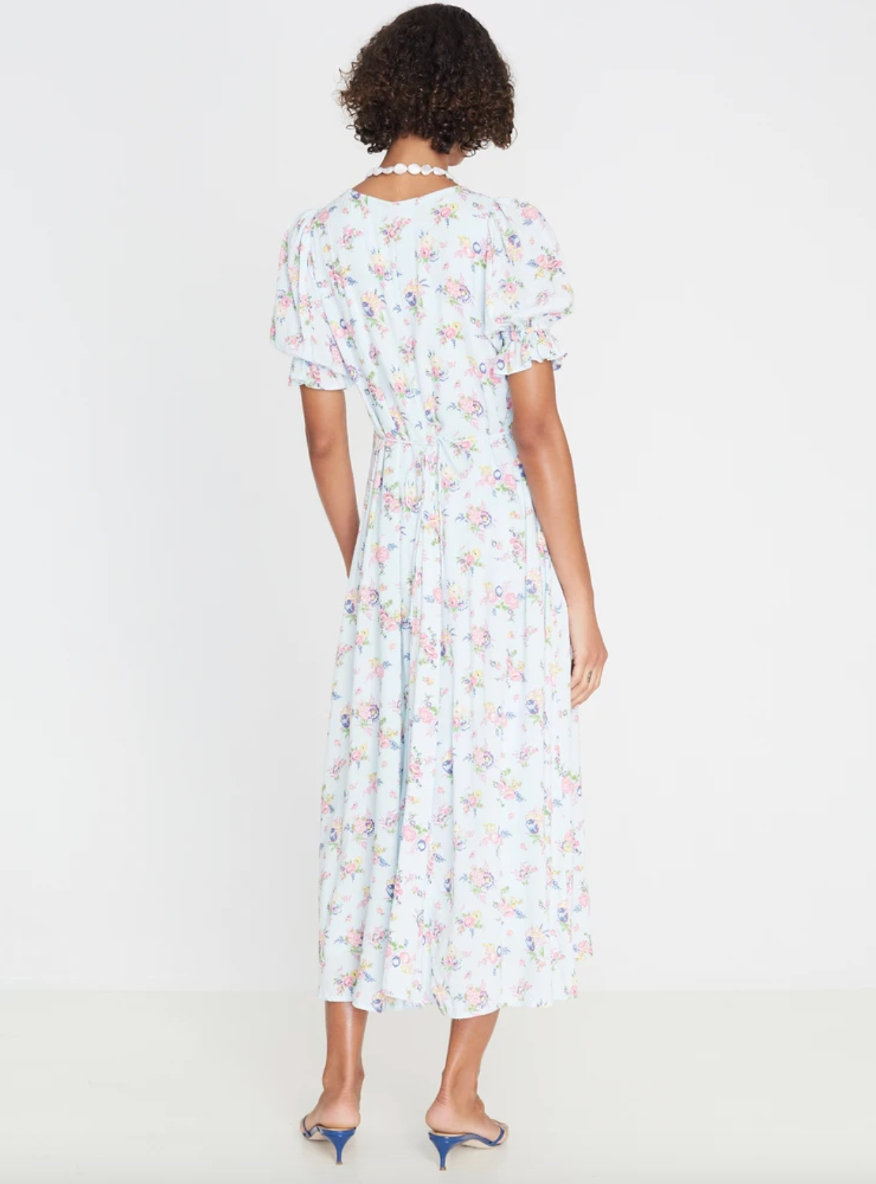 Faithfull The Brand  Maggie Midi Dress - Juliette Floral Blue