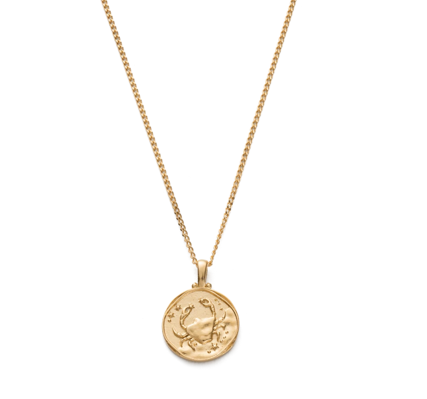 KIRSTIN ASH CANCER ZODIAC NECKLACE - GOLD