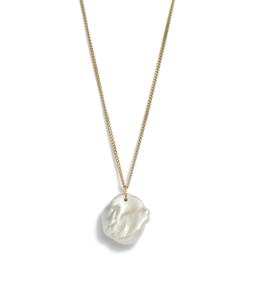 KIRSTIN ASH KESHI PEARL NECKLACE - GOLD